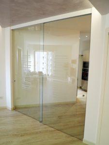 divisorio in vetro